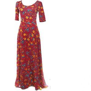NWT LuLaRoe Ana Floral Modest Maxi Dress  Small